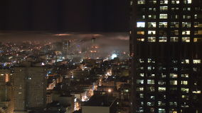 San Francisco Fog at Night  - Time Lapse - Clip 3 stock video