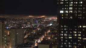 San Francisco Fog at Night  - Time Lapse - Clip 5 stock video