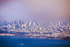 San Francisco Foggy Skyline Royalty Free Stock Photography