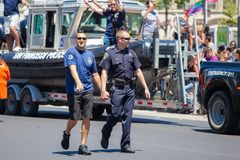 San Francisco Gay Pride Parade 2012. SAN FRANCISCO - JUNE 24: San Francisco Gay Pride Parade 2012. It is one of the largest gathering of LGBT people and allies Royalty Free Stock Images