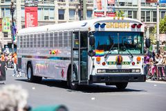 San Francisco Gay Pride Parade 2012. SAN FRANCISCO - JUNE 24: San Francisco Gay Pride Parade 2012. It is one of the largest gathering of LGBT people and allies Stock Photo