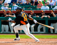 San Francisco Giants Infielder #48 Pablo Sandoval Royalty-vrije Stock Fotografie