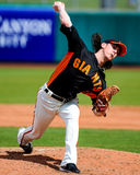 San Francisco Giants Pitcher #55 Tim Lincecum. Stock Photo