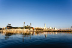 San Francisco Giants Stadium viewed from McCovey Cove Bay Stock Image