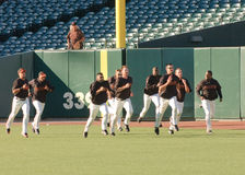 San Francisco Giants warming up pregame Stock Images