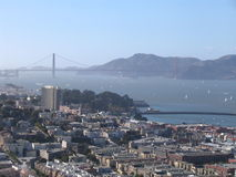 San Francisco - Golden Gate. San Francisco city and Golden Gate from the twin peaks Stock Images
