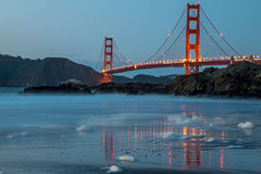 San Francisco Golden Gate from Bakers beach Stock Photography
