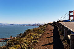San Francisco and Golden Gate bay bridge Royalty Free Stock Photography