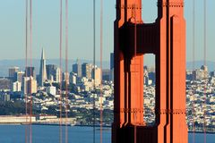 San Francisco through Golden Gate Bridge Stock Photo