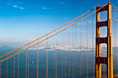 San Francisco and the Golden Gate bridge Stock Photo