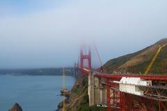 San Francisco Golden Gate bridge. View of famous San Francisco Golden Gate bridge during cloudy day Stock Image