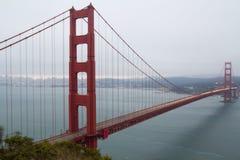 San Francisco Golden Gate bridge. View of famous San Francisco Golden Gate bridge during cloudy day Stock Photos