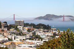 San Francisco and Golden Gate Bridge Royalty Free Stock Photos