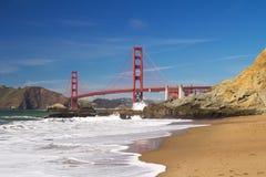 San Francisco Golden Gate bridge. View of famous San Francisco Golden Gate bridge from baker beach Royalty Free Stock Image