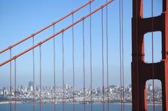San Francisco and Golden Gate Bridge Royalty Free Stock Photos
