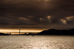 San Francisco Golden Gate Bridge. The Golden Gate Bridge in San Francisco California on a stormy day Stock Images