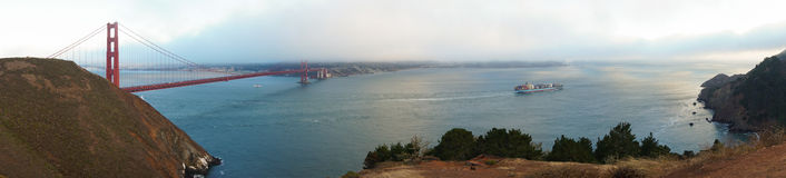San Francisco golden gate bridge Imagem de Stock