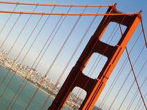 San Francisco Golden Gate Bridge. The San Francisco Golden Gate Bridge Stock Photography