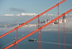 San francisco golden gate bridge and city Royalty Free Stock Images