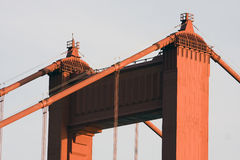San Francisco Golden Gate Bridge closeup Stock Image