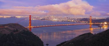 San Francisco Golden Gate Bridge at Dusk Royalty Free Stock Image