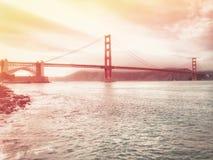 San Francisco Golden Gate Bridge em Califórnia EUA imagens de stock