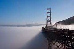 San Francisco Golden Gate Bridge and fog Stock Images