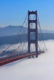 San Francisco Golden Gate Bridge in fog Royalty Free Stock Image