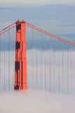 San Francisco Golden Gate Bridge in fog Royalty Free Stock Photos