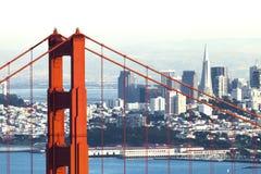 San Francisco with the Golden Gate bridge Stock Image