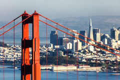 San Francisco with the Golden Gate bridge Stock Image