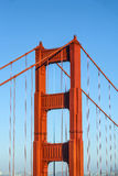 San Francisco Golden Gate bridge in late afternoon light Royalty Free Stock Photos