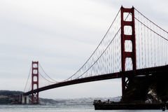 San Francisco Golden Gate Bridge From Marin Side Stock Image