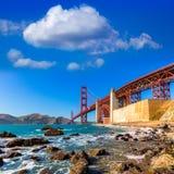 San Francisco Golden Gate Bridge Marshall beach California Stock Photos