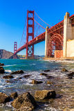 San Francisco Golden Gate Bridge Marshall beach California Stock Images