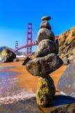 San Francisco Golden Gate Bridge Marshall beach California Royalty Free Stock Photography