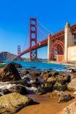San Francisco Golden Gate Bridge Marshall strand Kalifornien Arkivbilder