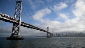 San Francisco Golden Gate Bridge, mening van het varende schip stock videobeelden