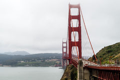 San Francisco - Golden Gate Bridge. The mist descends on the golden gate bridge Royalty Free Stock Image