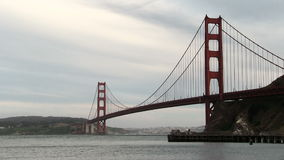 San Francisco Golden Gate Bridge From North With Cloudy Sky stock footage