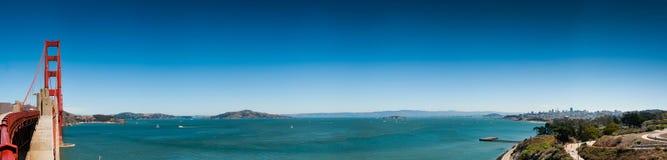 San Francisco Golden Gate Bridge Panorama Stock Image
