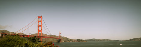 San Francisco Golden Gate Bridge Panorama Stock Images