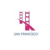 San Francisco Golden gate bridge projekta wektorowy szablon Zdjęcie Stock