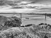 San Francisco and The Golden Gate Bridge Stock Image