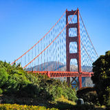 San Francisco - Golden Gate Bridge Sneak Peak Royalty Free Stock Images