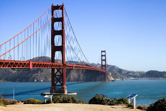 San Francisco - Golden gate bridge-Spur übersehen Lizenzfreies Stockfoto