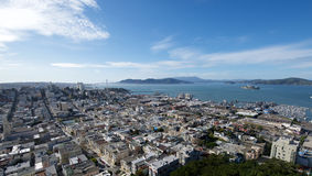 San Francisco and the Golden Gate Bridge Stock Image
