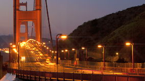 San Francisco Golden Gate Bridge. Sunrise timelapse stock footage