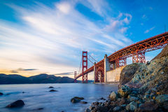 San Francisco Golden Gate Bridge. At sunset Royalty Free Stock Photos