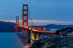 San Francisco Golden Gate Bridge. At sunset Royalty Free Stock Photo